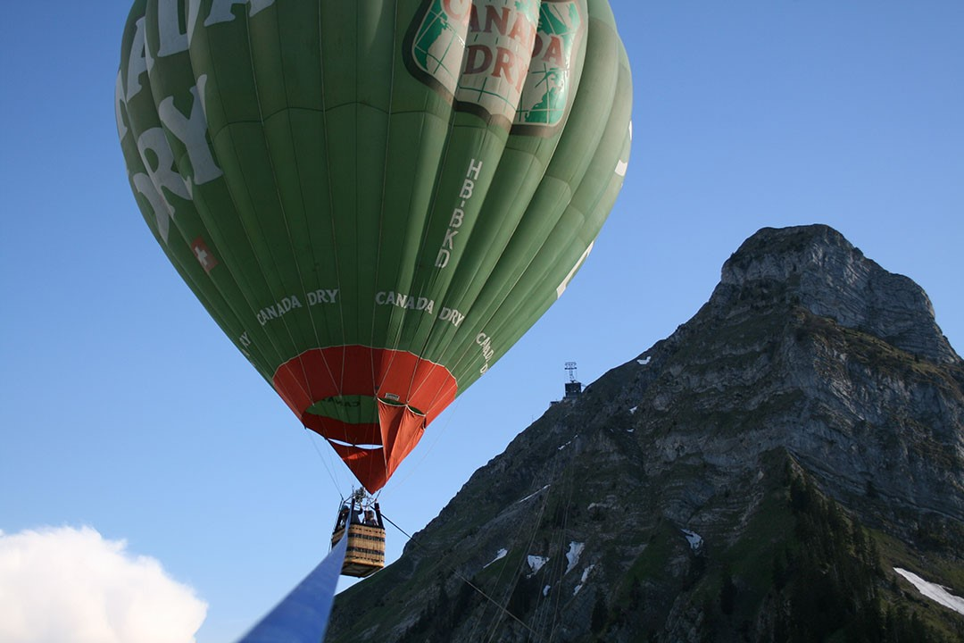 Vol captif en montgolfière à Moléson