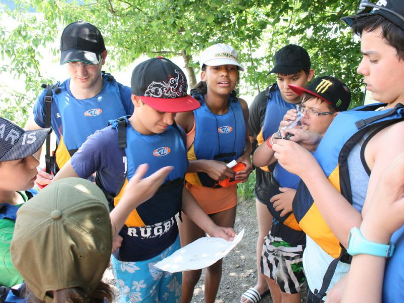 Chasse au trésor en kayak